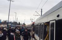 Zepsuty tramwaj blokuje ruch na Pohulance