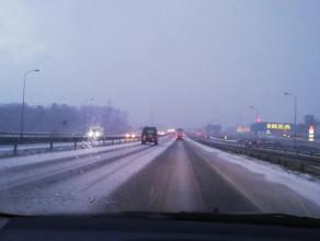 Śnieżyca na obwodnicy