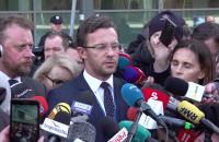 Konferencja o stanie prezydenta Adamowicza