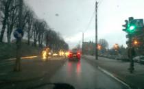 Chyba bardzo źle warunki na trakcie....