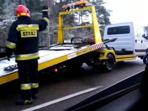 Działania po wypadku na obwodnicy w stronę Matarni