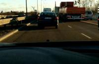 Korek na Sucharskiego w stronę mostu wantowego