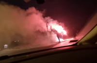 Podpalenie pojemnika PCK na ul. Podleckiego w Gdańsku