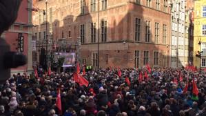 Hymn Polski na pogrzebie Adamowicza