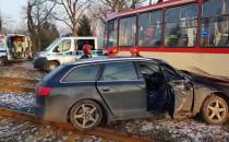 Skutki wypadku na Hallera. Motorniczy...