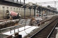 Prace przy przebudowie peronu 1 w Gdańsku Głównym