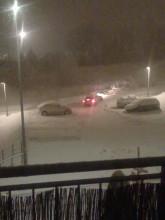 Dolne Młyny w śniegu