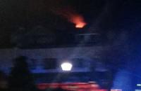 Pożar dachu przy Amona w Gdyni