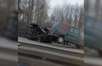 Skutki wypadku na obwodnicy w okolicy Matarni