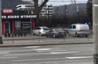 Ktoś się chyba spieszył na al. Zwycięstwa w Gdyni