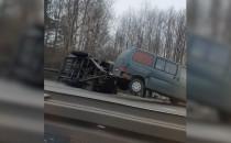 Trwa usuwanie skutków wypadku na obwodnicy
