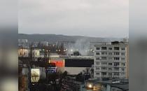 Pożar śmieci koło Galerii Bałtyckiej