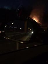 Pożar auta na obwodnicy w Kowalach
