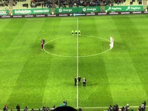 Kibice i piłkarze Lechii żegnają prezydenta Adamowicza