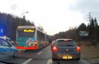 Stłuczka z udziałem autobusu na ul. Spacerowej