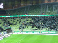 Minuta ciszy podczas meczu Lechia Gdańsk - Pogoń Szczecin