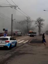 Pożar na Chylońskiej w Gdyni