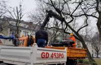 Pomnik Jankowskiego przenoszony między samochodami