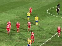 Gwizdy dla piłkarze Arki Gdynia po 1. połowie meczu z Piastem Gliwice