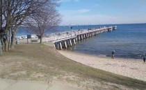 Słoneczna i ciepła sobota przy plaży w...