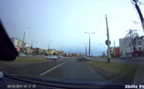 Niebezpieczne zachowanie na skrzyżowaniu w...