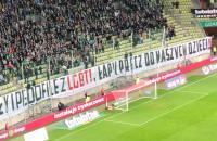 Transparent o LGBT na meczu Lechii Gdańsk