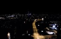 Nocne Przymorze widziane z góry