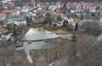 Zaniedbany teren naprzeciwko Katedry w Oliwie