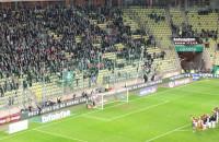 Lechia - Piast - radość po meczu