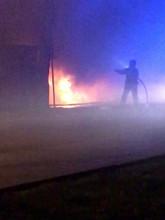 Nocny pożar przy ulicy Siennej