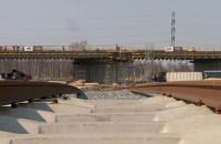 Wiecha nad nowym wiaduktem w Porcie Północnym