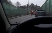 Wypadek na wjeździe na obwodnicę z Trasy Kwiatkowskiego