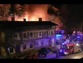 Nocny pożar w Gdańsku