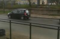 Korek widziany z tramwaju