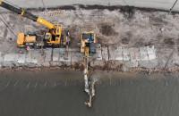 Wzmacnianie nabrzeża na Polskim Haku