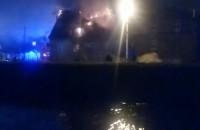 Akcja gaszenia pożaru pustostanu na Olszynce