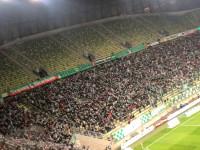 Radość kibiców Lechii Gdańsk po golu na 1:0