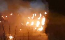 Pożar pustostanu na Olszynce