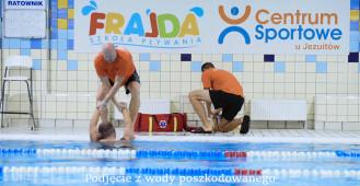 Ćwiczenia zespołu ratowników wodnych Centrum Sportowego U Jezuitów