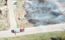 Niebezpieczne wypalanie trawy na Olszynce.