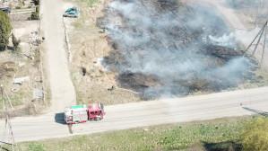 Niebezpieczne wypalanie trawy