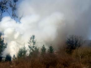 Gdynia Mały Kack pożar altanki ogrodowej