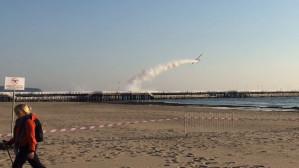 Start i lądowanie samolotu na molo w Sopocie