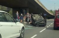 Skutki dachowania samochodu na Podwalu Przedmiejskim