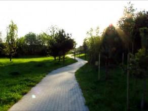 Punkt widokowy Wzgórze Mickiewicza - Park Na Zboczu - wejście po schodach