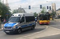 Eskorta kibiców Jagiellonii na mecz finałowy Pucharu Polski