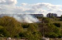 Pożar w okolicy Stokrotki przy ul Niepołomickiej