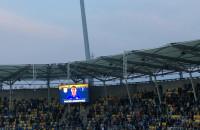 Radość kibiców Arki Gdynia po golu na 1:0