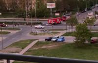 Straż pożarna jedzie gasić mieszkanie - Gdańsk Morena