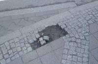 Tak wygląda chodnik w centrum Gdańska